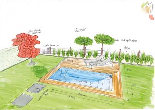 Planung Gartenpool